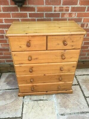 Nice Modern 6 Drawer Solid Pine Chest Of Drawers