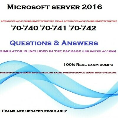 Microsoft server 2016 70-740 70-741 70-742 Exam question answers and simulator