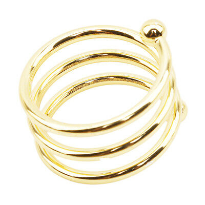 Gold Metal Spiral Paper Napkin Ring Holders Wedding Dinner Table Party Decor WE