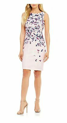 34d2511e Ivanka Trump Floral Blossom Print Sunburst Pleated Sheath Dress Size 6 Nwt