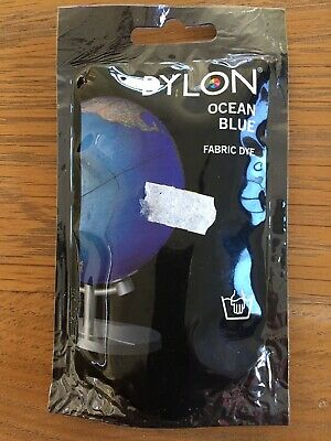 50g Pack Dylon OCEAN BLUE Fabric Dye Clothes Hand Wash Dye Colouring Changing