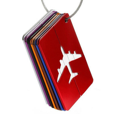 Aluminium Plane Luggage Tags Suitcase Label Name Address ID Baggage Tag WE