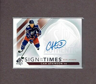 2017-18 UD SP Authentic Sign of the Times Auto #SOTT-CA Cam ATKINSON. Nice.