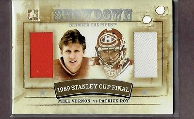 2010-11 ITG Between The Pipes Showdown #SD-05 VERNON / ROY Dual Patch SILVER /39