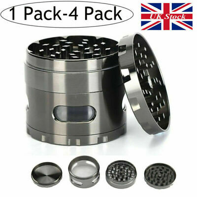 4 Layer Zinc Alloy Hand Crank Herb Mill Crusher Tobacco Smoke Grinder 55mm Spice