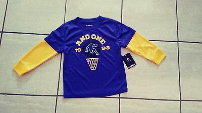 Toddler boys long sleeve basketball shirt size 3t  100% polyester new with tags!
