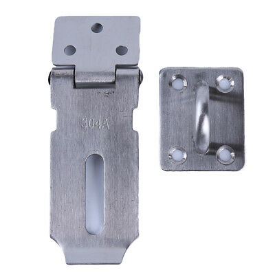Stainless Steel Hasp Staple Lock Heavy Duty Padlock Clasp Shed Latch Door WA
