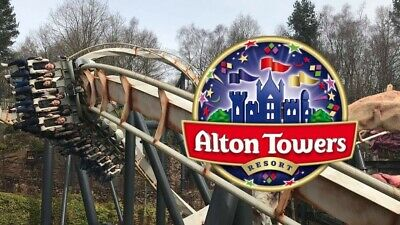 2 Alton Towers Tickets Sunday 9th June 2019 9/6/19