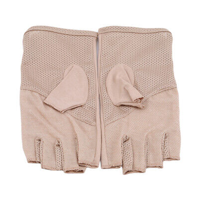 Summer Women Thin Fingerless Gloves Riding Half Finger Gloves Anti-skidding WE