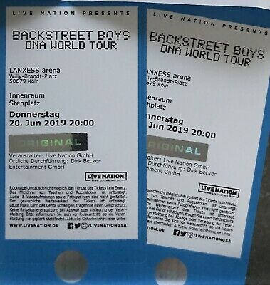 Backstreet Boys DNA World Tour KÖLN 20.06.2019 Stehplatz im Innenraum