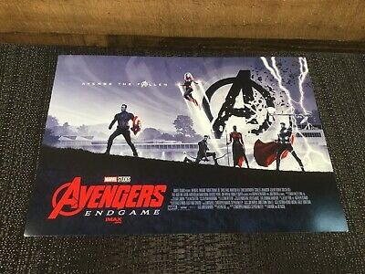 Avengers End Game Imax Movie Poster Marvel Studios 1 Qty