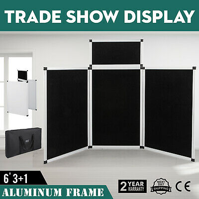 Exhibition Folding Display Boards - 4 Panel Lightweight Folding Stand With BAG
