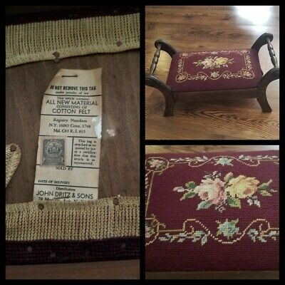 Vintage Antique Foot Stool