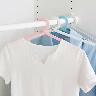 Portable Folding Travel Foldable Plastic Clothes Hanger Drying Rack Supply WE