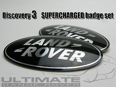 Land Rover Disco Discovery 3 Supercharged Boot & Grill Black Rear Badge Logo