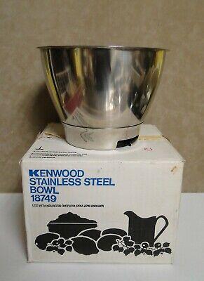 New Vintage Kenwood Chef Stainless Steel Mixing Bowl 18749 Still In The Box