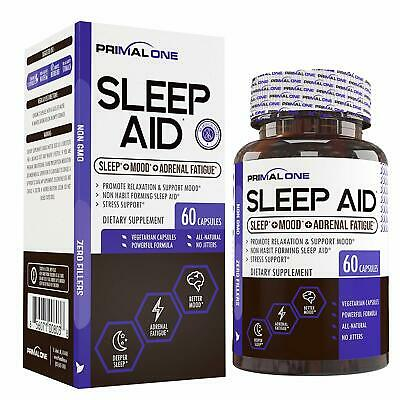 PRIMAL ONE Sleep AID-Non Habit Forming Sleep Support Adrenal Fatigue Supplement