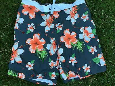 798562617dd68 OP Ocean Pacific Floral Hawaiian Swim Shorts Trunks Mens Large 40-42 Lining