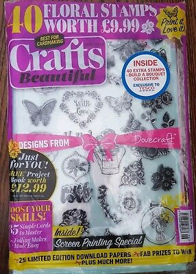 Crafts Beautiful Craft Magazine Issue 319 June 2018 + FREE Gifts 80 Stamps