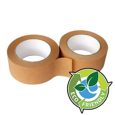 6 Pack of 50m Parcel Tape Self Adhesive Paper Kraft Tape