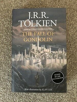 SIGNED ALAN LEE The Fall Of Gondolin JRR TOLKIEN 1/1 HBK Lord Of The Rings