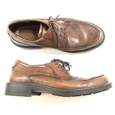 6c83d64a654 ECCO Men's Brown Leather Oxford Lace Up Shock Point Sole Shoes Size 41 US 7/
