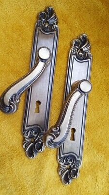 Pair of French Victorian Brass Door Handle  Antique-Chateau Door REDUCED 4 XMAS