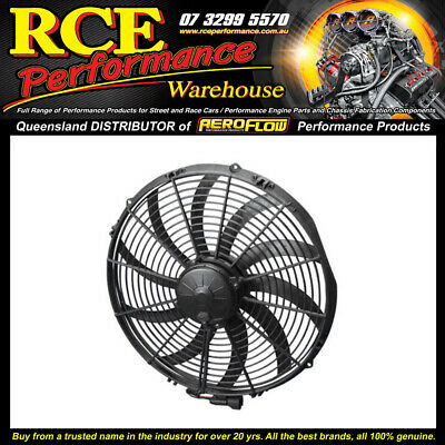 "30102113 SPAL Extreme Performance 16"" Electric Fan Puller Style 10 Curved Blades"