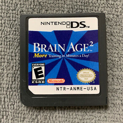 Brain Age 2 for Nintendo DS/ DS Lite/ XL Original USA [Game Cartridge Only]