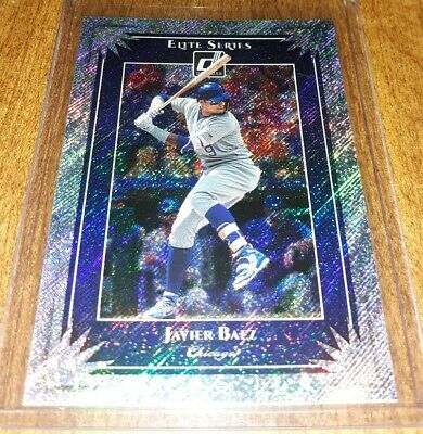 2019 Donruss Elite Foil Javier Baez Chicago Cubs baseball card #ES6 Elite Series