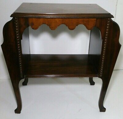 1900s Peerless Furniture Co. Console End Table w/ Magazine Racks - Chippendale