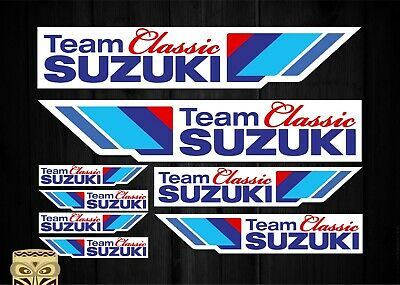 Team Classic Suzuki Set Kit A4 Pegatinas Stickers Aufkleber Laminated Laminado