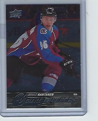 2015-16 UD Series One Mikko Rantanen Silver Foil Young Guns SP RC