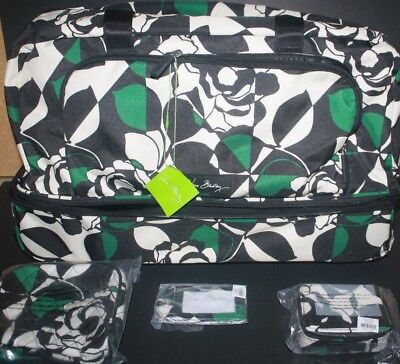 Vera Bradley Lighten UP Imperial Rose Wheeled Carry On Cosmetic Pill Tag NWT