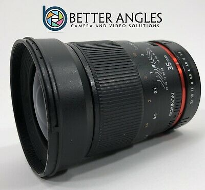 CANON Rokinon 35mm F1.4 AS UMC Lens-Guaranteed+Free Shipping!