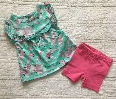 New Infant Girls Two Piece Set Shorts & Top 6 Months