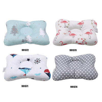 Baby Newborn Infant Pillow Memory Foam Positioner Prevent Flat Head Anti Roll WE