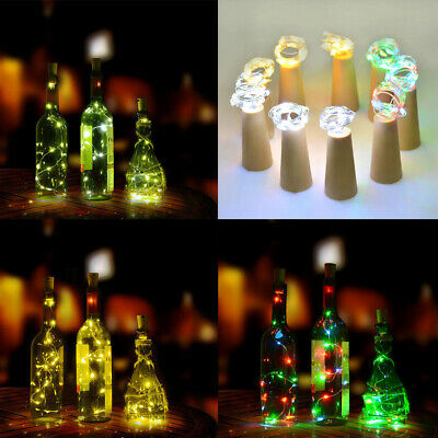 2M 20LED Battery Operated Silver Wire Fairy String Light Birthday Xmas Bar E2BD