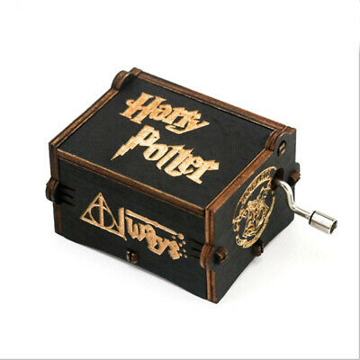 Harry Potter Music Box Wooden Hand Shanke Music Box for Funs Collections