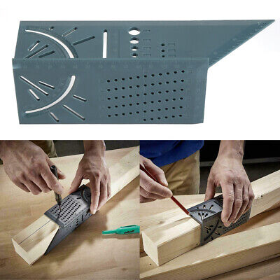 3D Measuring Tool Gauge Ruler Square Mitre Angle Size Measure For Woodworking CA
