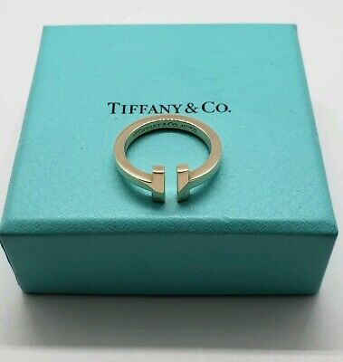 Tiffany&Co T Square Ring In 18K Yellow Gold