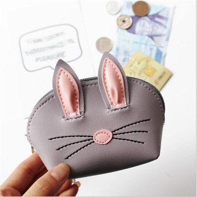 Lovely Small Cat Coin Purse Wallet Card Holder Key Bag Money Bags for Girls WE