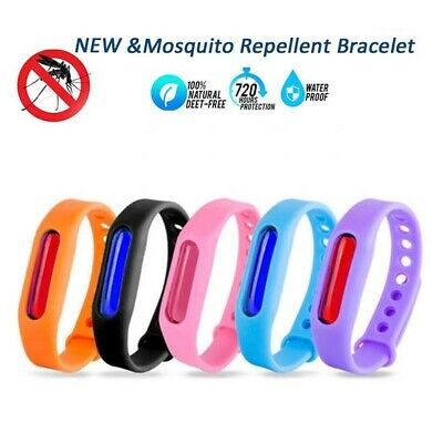 5Pcs Anti Mosquito Pest Bug Repellent Wrist Band Bracelet Insect Bangle Lock Hot