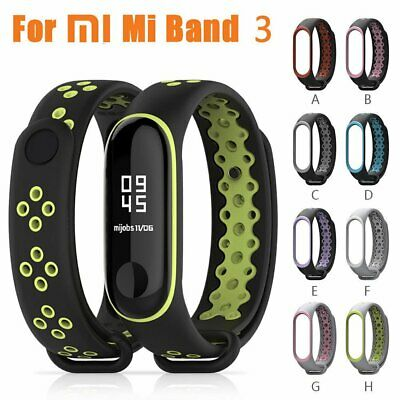 Replacement Silicone Bracelet Strap Wristband Wrist Band For Xiaomi Mi Band 3