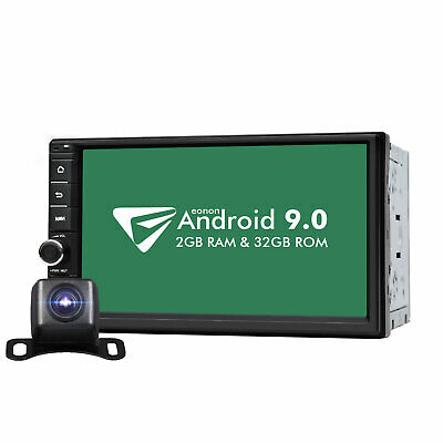 Android 9.0 WiFi 2Din 7in Quad Core GPS Navi Car Stereo MP5 Player FM Radio +Cam