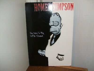 Homer Simpson Scarface Mounted Poster Say Hello To My Little Friend