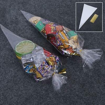 798ab0abe7993a 100PCS/Lot Party Cone Clear Cello Bags Sweets Candy Cones Kids Birthday  Wedding