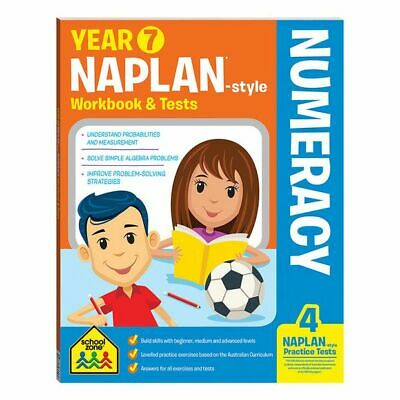 NEW School Zone Year 7 Numeracy NAPLAN*-style Workbook and Tests