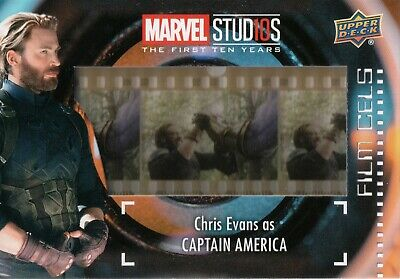 Marvel The First Ten (10) Years, Chris Evans 'Capt America' Film Cell Card FC-18