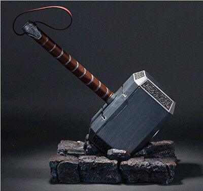 1:1 Full Solid Avengers Thor Hammer Resin Base Halloween Cosplay Props Gift New